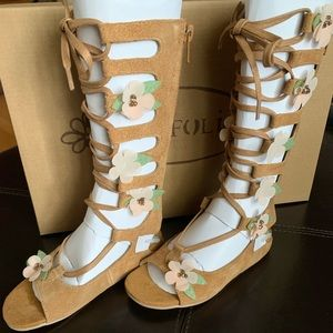 Joyfolie Seraphina gladiator sandal in tan 9t